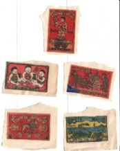 Amazing VERY OLD match box labels CHINA or JAPAN  #015